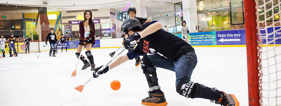Private Booking Broomball on Ice | The Rink SG