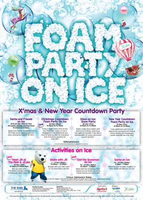 Foam Party on Ice – Christmas / NYE 2014