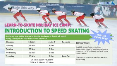 Introduction to Speed Skating Holiday Ice Camp